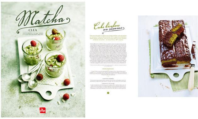 Ce livre de recette au thé Matcha a été écrit par Clea
