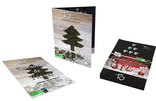 Ce calendrier de l'avent proposé par Touch Organic est basé sur la thématique des thés bios