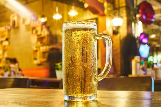 La biere (ici une bière pression) est la 6e boisson la plus consommée dans le monde