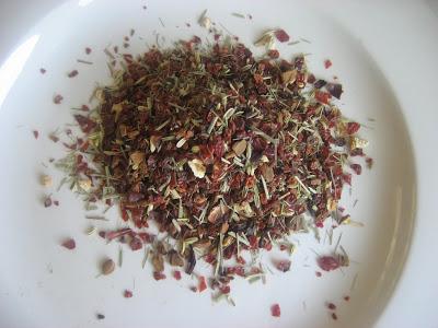 Mélange de thé pour infusion healthy riche en vitamine C