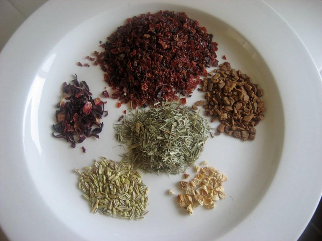 Ingrédients pour pour infusion healthy riche en vitamine C