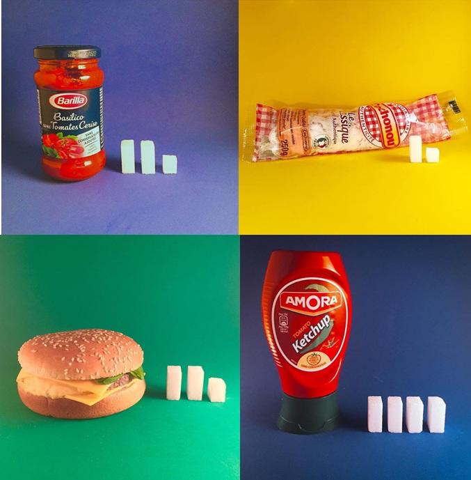 Quantités de sucre cachés dans les ingrédients