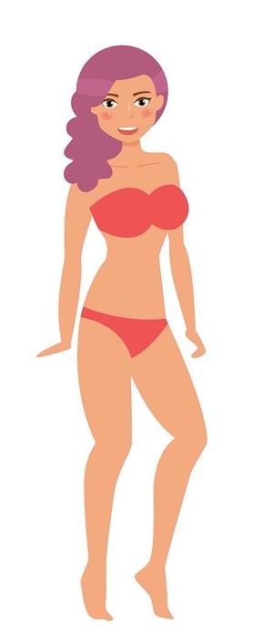 La forme de corps androgyne, ou en V inversé
