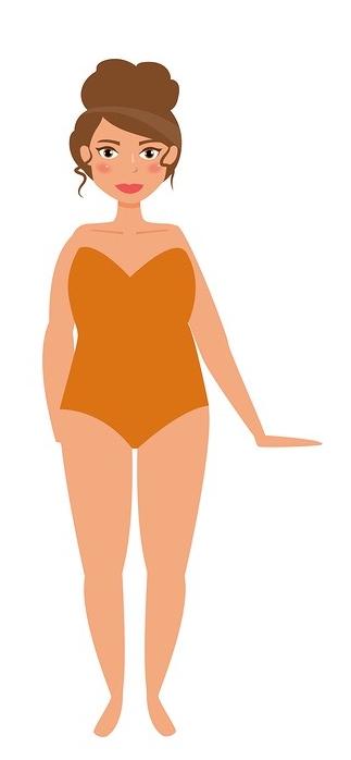 La forme de corps Voluptueuse ou pulpeuse, aussi appelée ronde